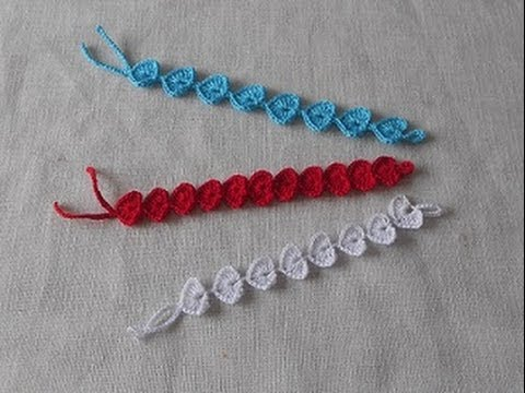 Uncinetto Crochet Braccialetto Fiore Cuore Hearth Youtube