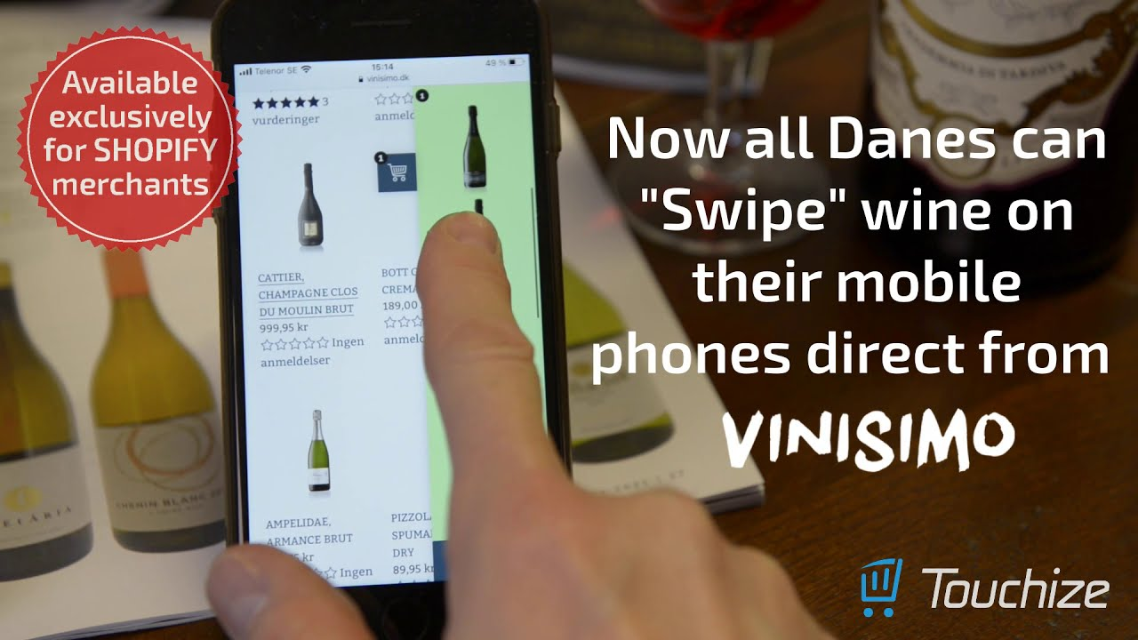 "Now all Danes can ""Swipe"" wine on their mobile phones direct from Vinisimo.dk!"