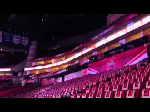 Daniels inside Houston's Toyota Center