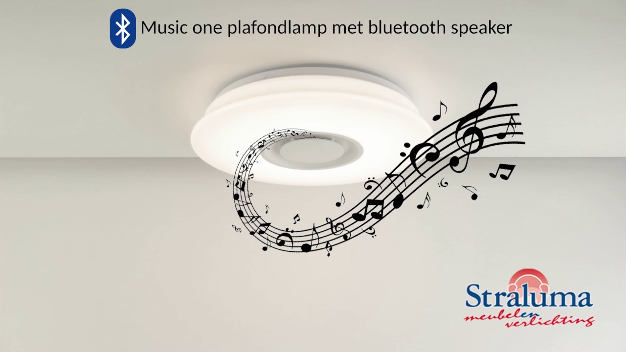 Music One - Plafondlamp met bluetooth speaker - YouTube