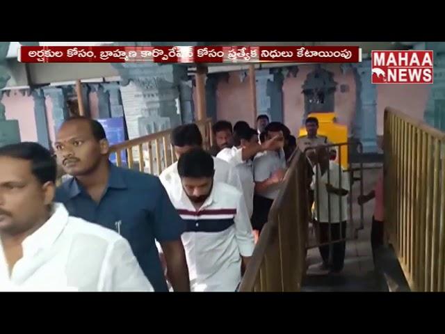 AP MLA Vellampalli Srinivas Serious Orders Over Temple Lands | MAHAA NEWS