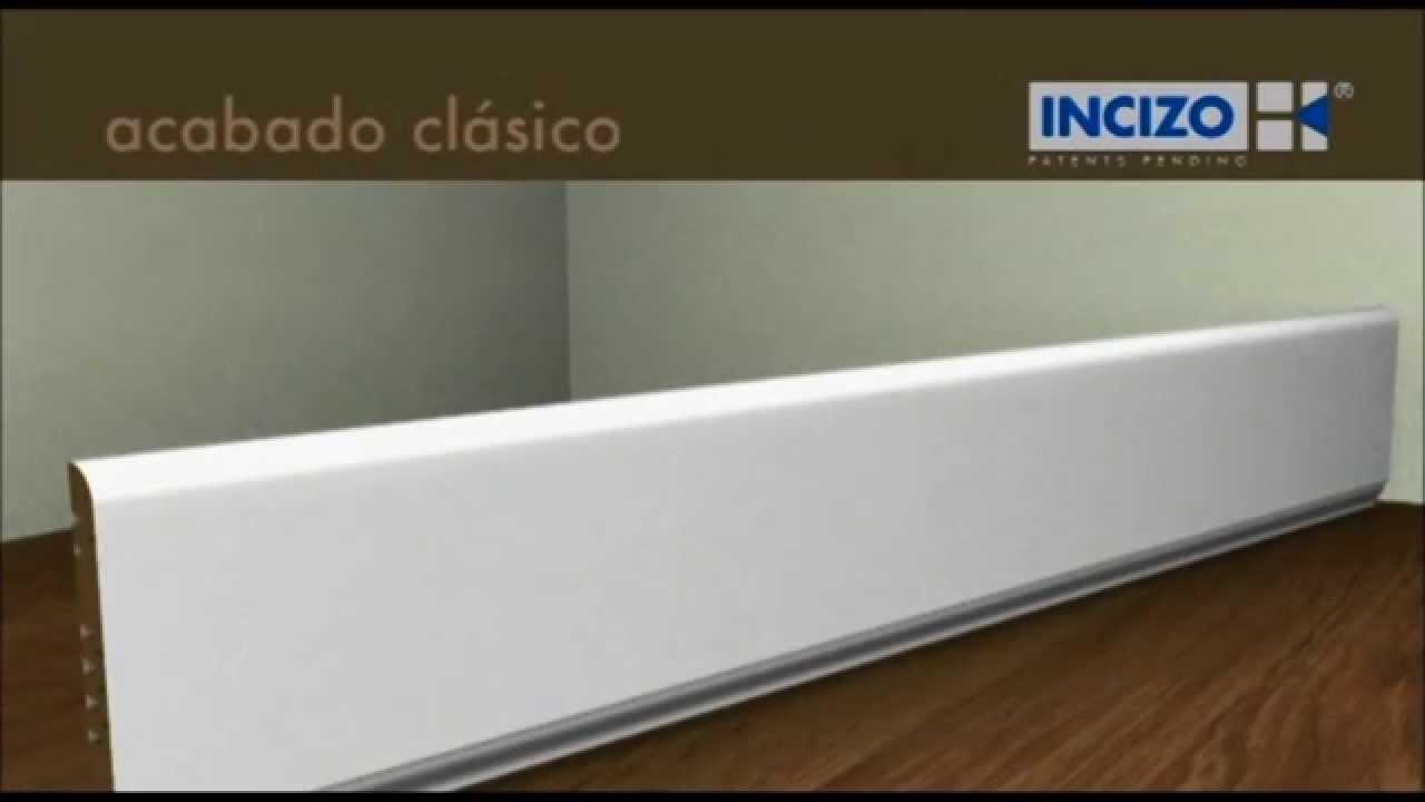 Rodapie blanco pintable quickstep parquetscruzgal youtube for Rodapie pvc blanco