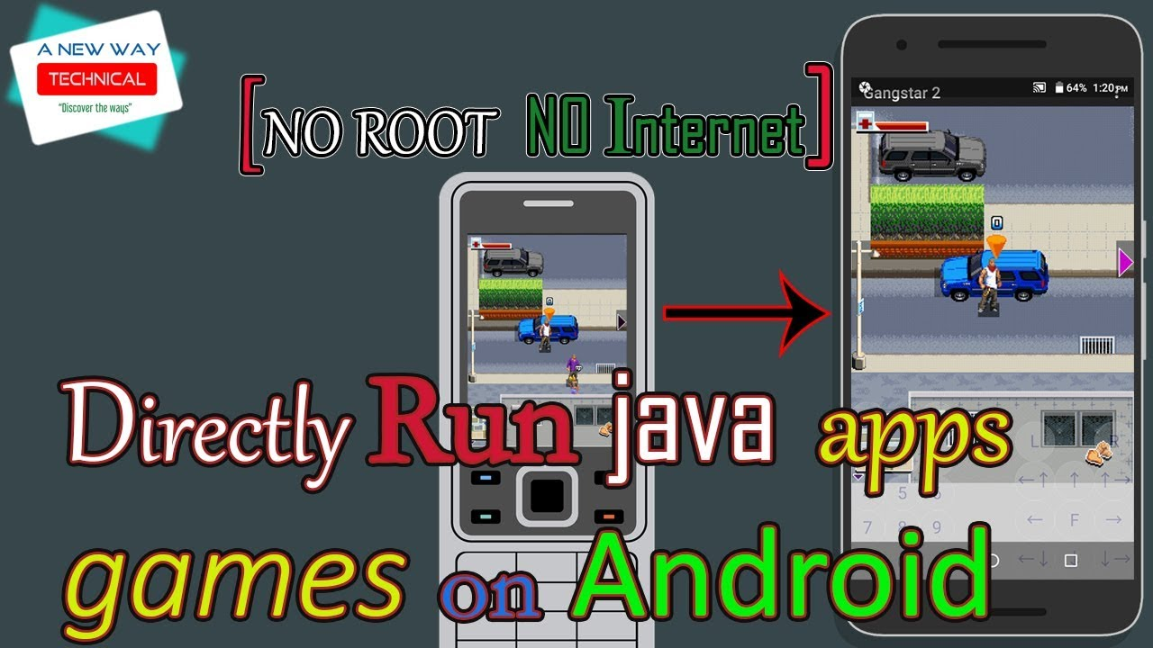 Directly Run java apps on android without root or without internet | How to  run  jar file on android