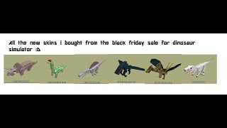 BLACK FRIDAY | Roblox Dinosaur Simulator