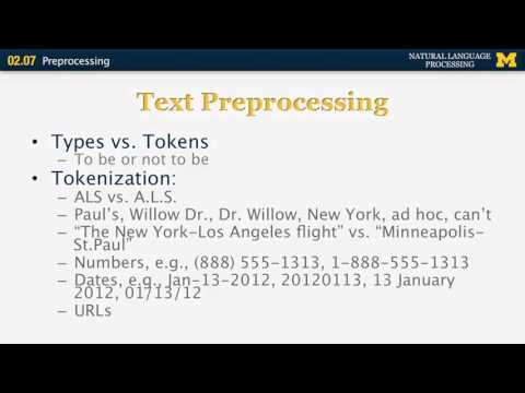 Preprocessing - Natural Language Processing