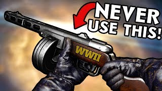 5 Weapons You Should NEVER Use in WW2 Zombies ~ Call of Duty World War 2 Zombies
