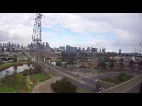 SkyBus Ride from Melbourne Airport to Southern Cross, Melbourne, Victoria, Australia: 01/09/16