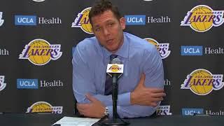 Luke Walton Postgame Interview / LA Lakers vs Timberwolves