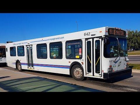 Riding Ex-Calgary Transit 1995 New Flyer D40LF Bus on Winnipeg Transit Route 160 + 185 (Bus 642)