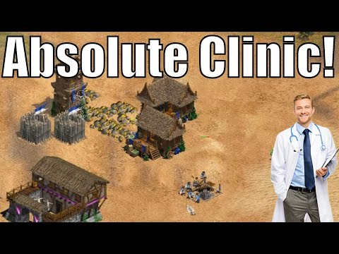 AoE2 - Absolutely Clinical 1v1! [Vinchester vs F1re]