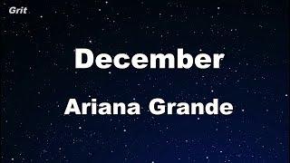December Ariana Grande Karaoke With Guide Melody Instrumental