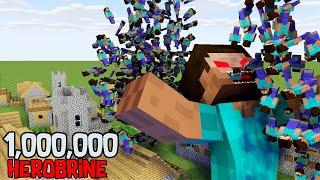 Monster School : 1 Million HEROBRINE - Minecraft Animation