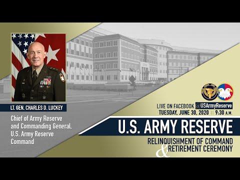 LTG Luckey Relinquishment Of Command Ceremony