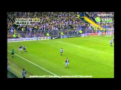 AIK - Barcelona, Champions League 14.09.1999 highlights goals
