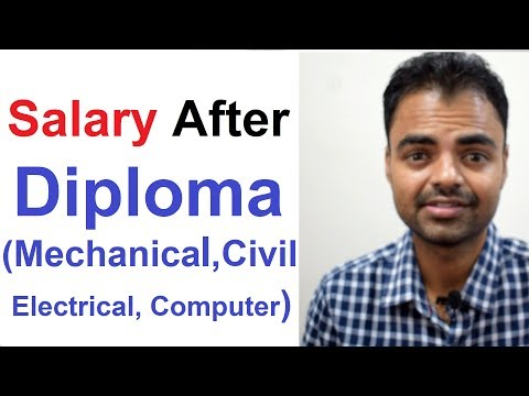 Average Salary After Diploma(Mechanical, Civil, Electrical, Computer) In India Hindi