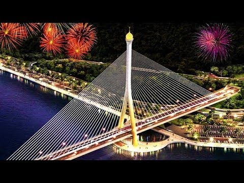 Best Fireworks in Brunei   The Opening Ceremony of Sungai Kebun Bridge