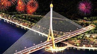 Best Fireworks in Brunei | The Opening Ceremony of Sungai Kebun Bridge