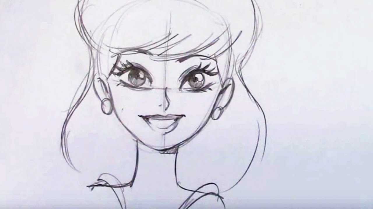 how to draw a pretty girl cartoon step by step youtube