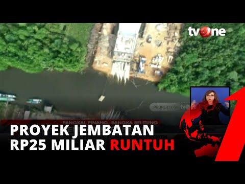 Bangunan Jembatan Bernilai Rp25 Miliar Di Babel Runtu, Polisi Periksa Kontraktor Proyek | Tvone