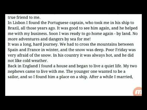Last Part Robinson Crusoe Chapter 8 Home To England~Learn English Through Story! Story In Urdu Hindi