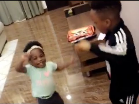 WATCH Davido Beautiful Baby IMADE Visits PSquare's House As She Plays And Dances With PSquare's Son