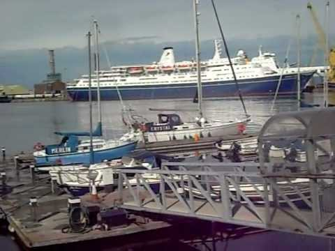 The Marco Polo & Silver Cloud Cruiseships In dublin 4th september 2011