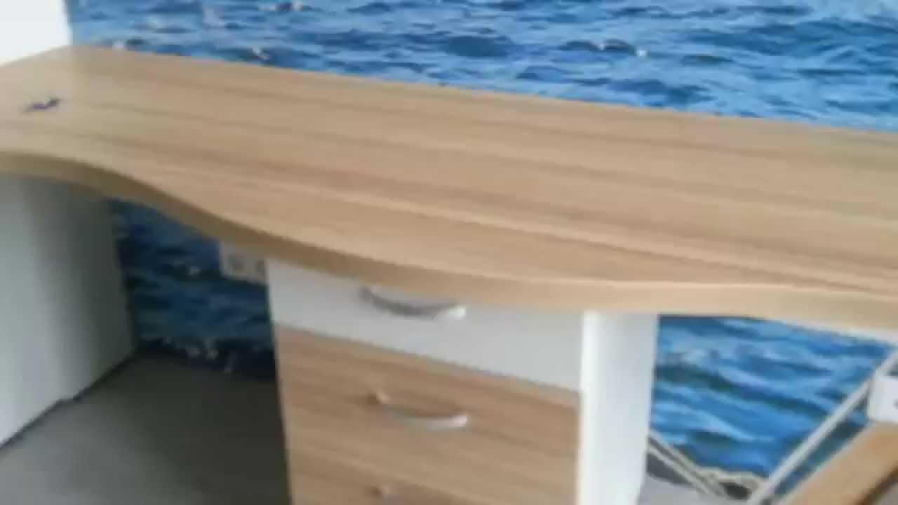 Офисный стол угловой CK58 от TsuriCom - YouTube