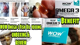 Wow omega-3 fish oil 1000mg 550mg epa 350mg dha omega 3 fatty acids unboxing & review