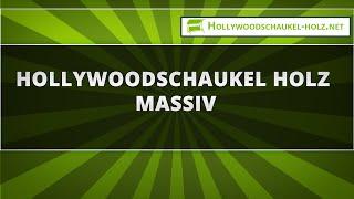 Hollywoodschaukel Holz massiv