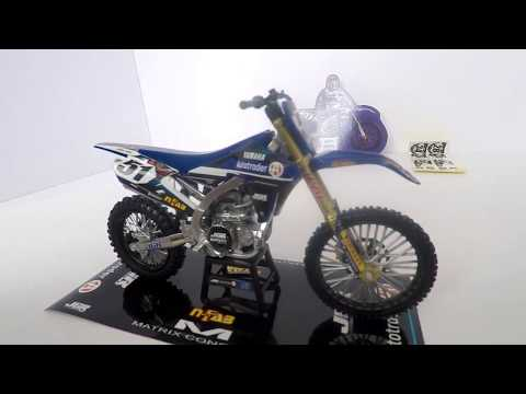New Ray Justin Barcia Yamaha JGR MX 1:12 Scale Model YZ250f toy dirt bike collection