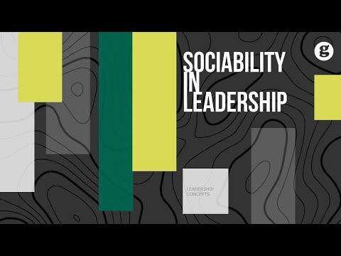 Sociability in Leadership