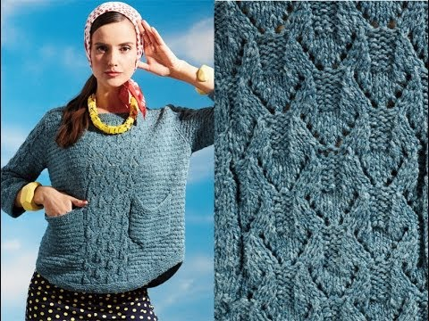 23 Button Back Sweater Vogue Knitting Early Fall 2014 Youtube