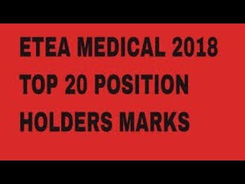 Who is the Topper In ETEA Medical Test||Fisrt 20 Top Holder In ETEA 2018 in || KPK
