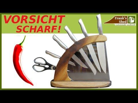 DIY Messerblock aus Holz | Messer Halterung selber bauen  | Franks Shed