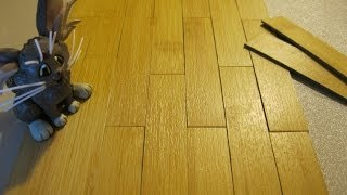 Quick Tip: Miniature Flooring For Dollhouse / Diorama