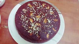 Almond cake recipe without oven ( no machine ) dry almond cake