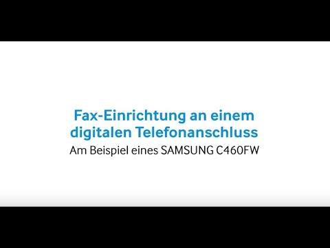 Samsung Drucker: Fax-Einrichtung am digitalen Telefonanschluss