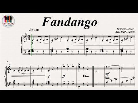 Fandango - Spanish Dance, Piano