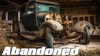 ABANDONED Car Graveyard - Old Classic Cars (FOUND 1930 Ford Model A !!)