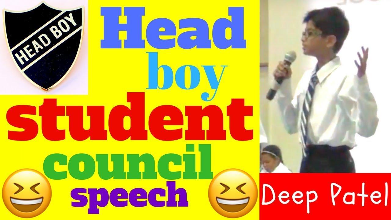 School election in speech for headboy My speech