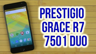 Распаковка Prestigio MultiPhone Grace R7 7501 Duo Black