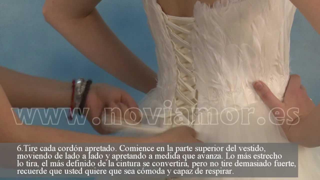 Cómo atar tu corset de vestido de novia? - YouTube