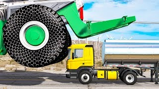 Beamng drive - Giants Machines Crushes Cars #11