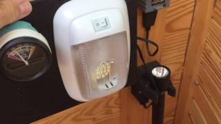 RV LED Interior Light Install / DIY