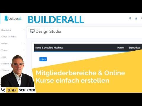Online Kurse erstellen - Mit builderall Mitgliederbereiche und online Kurse einfach erstellen