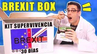 Probando KIT DE SUPERVIVENCIA BREXIT BOX 30 DÍAS de REINO UNIDO (en español)