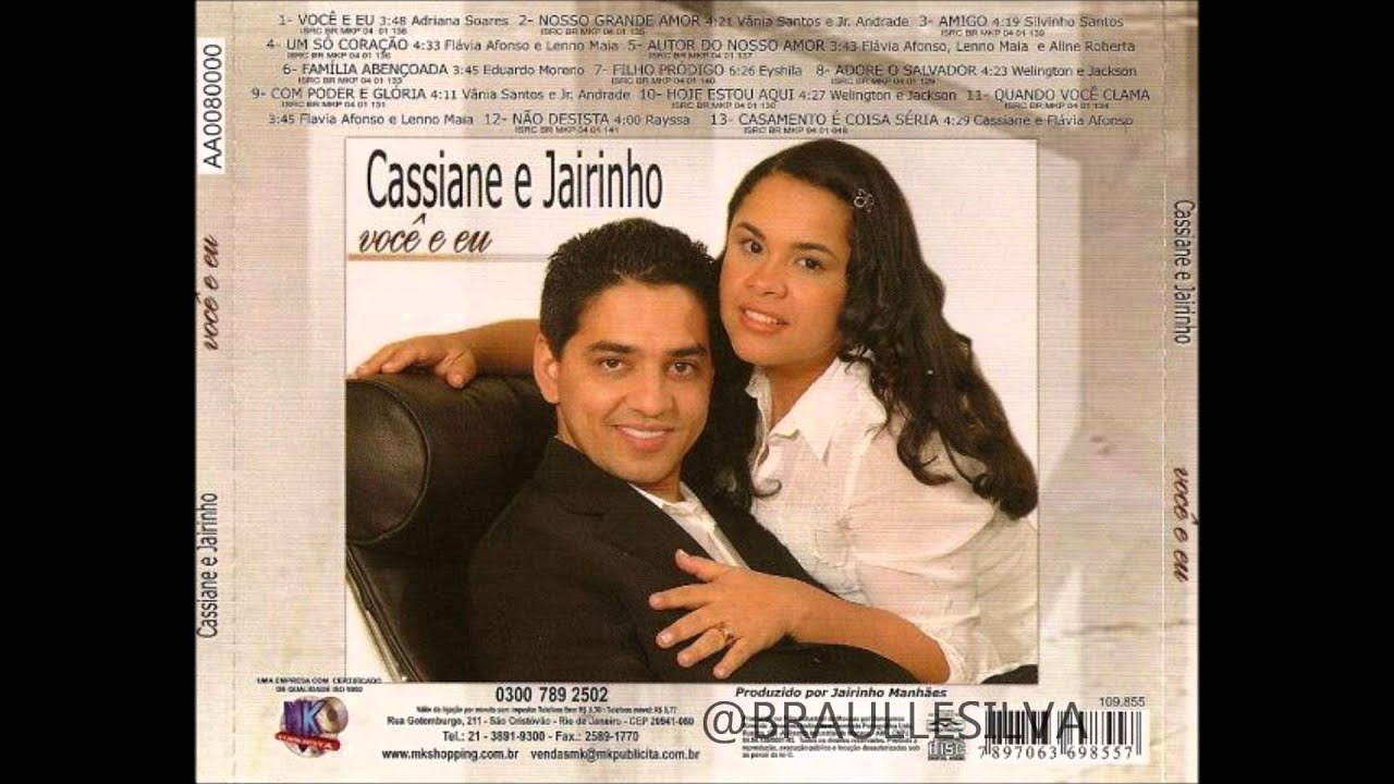 UM SÓ CORAÇÃO - Cassiane & Jairinho - Letras Web