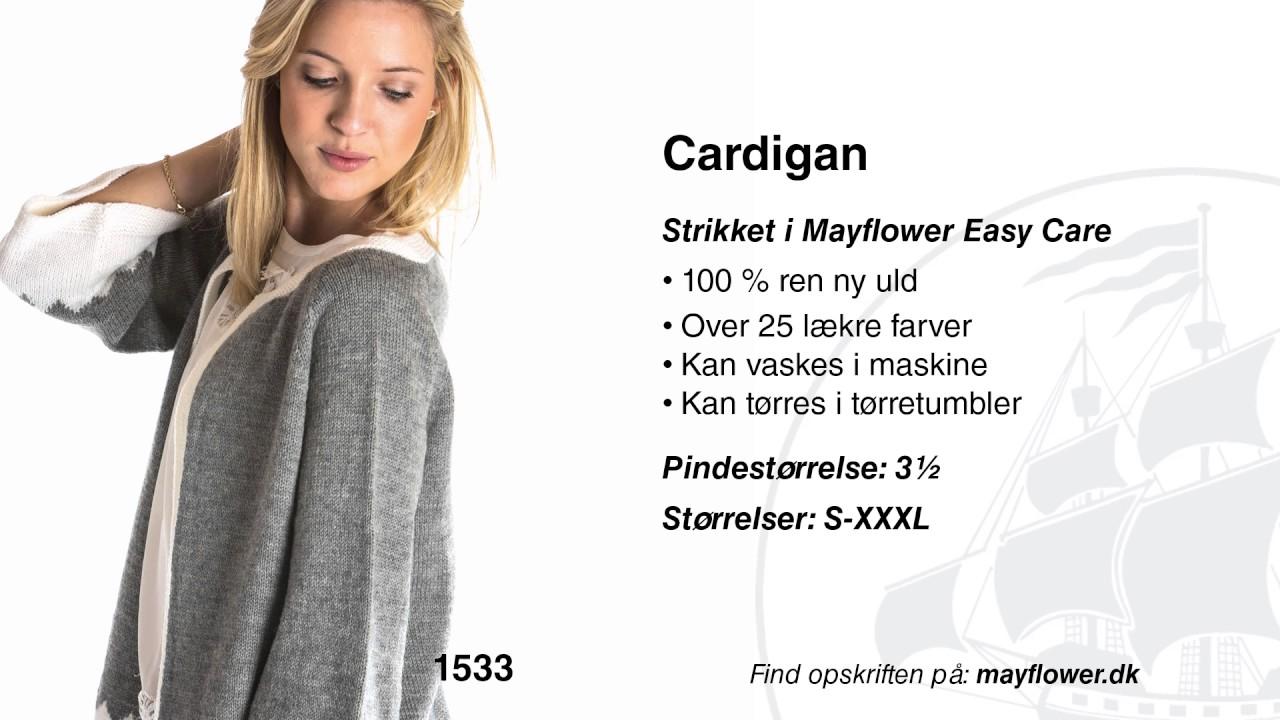 996aa70f Strikkeopskrift 1533: Cardigan i Mayflower Easy Care - YouTube