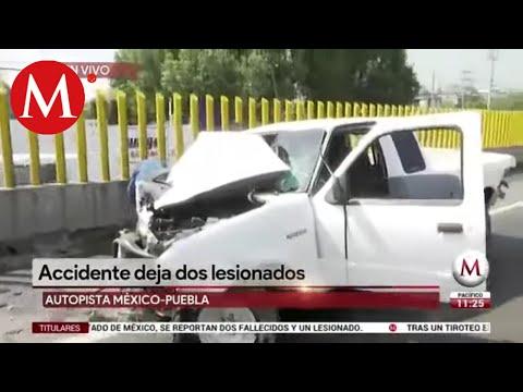 Auto Y Tráiler Chocan En La México-Puebla; Hay 2 Heridos