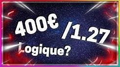 PARIS SPORTIFS: JE MISE 400€ SUR UNE COTE  A 1.27 : LOGIQUE?